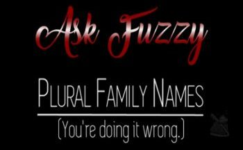 Video: Making Family Names Plural