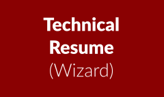 Technical resume (wizard class)